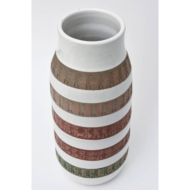 This monumental and organic modern Mid-Century Italian vase is both textural and earth toned mixed with the background of...