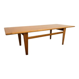 Mid-Century Modern White Oak Large Coffee Table - Made in Norway For Sale