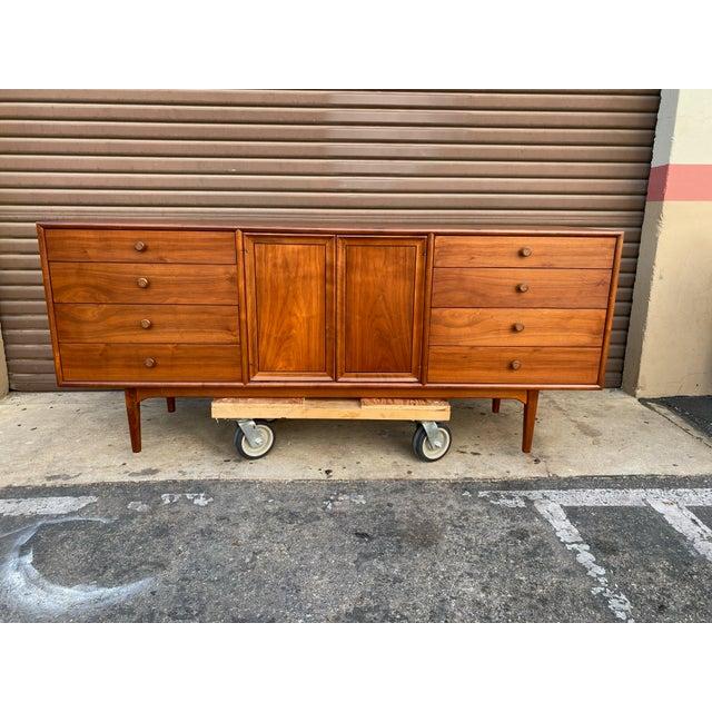1960s Kipp Stewart for Drexel Mid Century Modern Walnut Credenza For Sale - Image 12 of 12