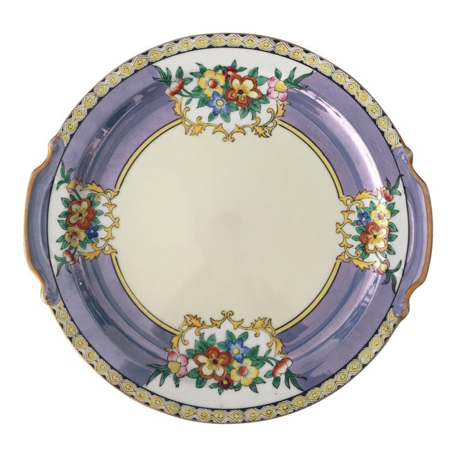 Antique Lustreware Noritake Plate For Sale