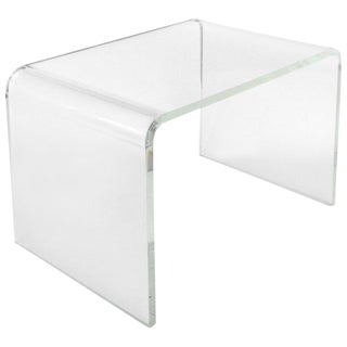 1970s Mid-Century Modern Lucite Waterfall Side Table For Sale