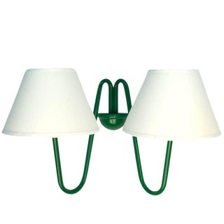 Two-Arm Green Wall Lamp