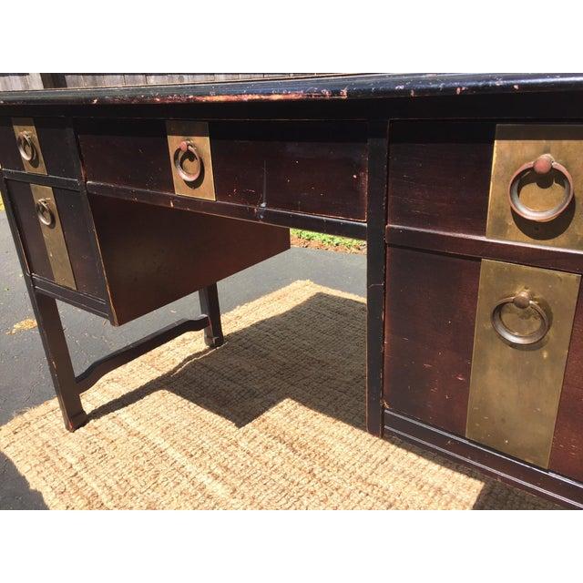 Dark Brown Vintage Bassett Desk - Image 4 of 9