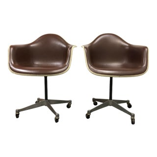 Pair of Herman Miller Eames Bucket Chairs For Sale