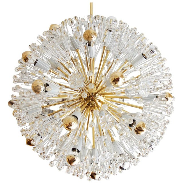 Brass Rare Large Brass and Glass Sputnik Chandeliers by Emil Stejnar For Sale - Image 7 of 7