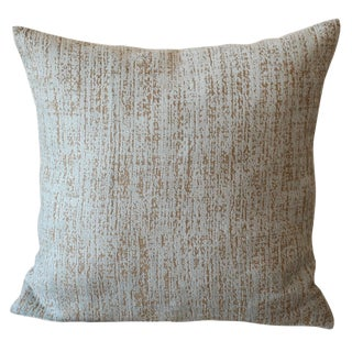 Velvet Chenille Abstract Blue Pillow For Sale