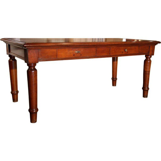 Italian Table in cherry wood. 1920s For Sale - Image 9 of 9