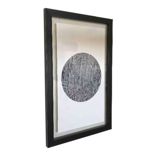 Framed Black and White Ink Print For Sale