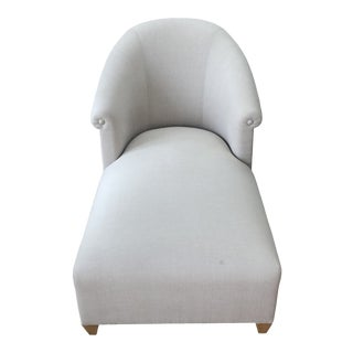 Donghia Plato Chaise in Flax Linen For Sale