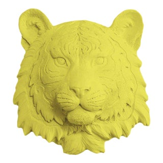 Wall Charmers Faux Taxidermy Yellow Mini Tiger For Sale
