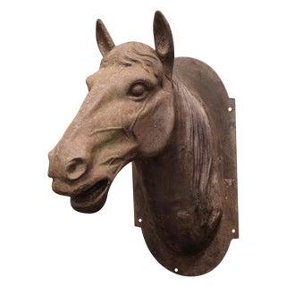 Cast Iron Horse Head Sculpture For Sale