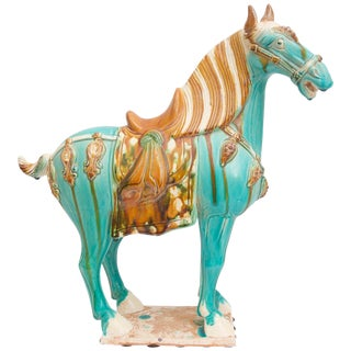 Tang Dynasty Style Horse Chinoiserie Revival 1970s For Sale