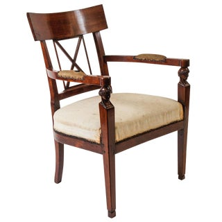 Neoclassical Consulate Fauteuil or Armchair, Italy, Circa 1800 For Sale