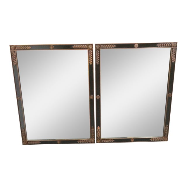 Kittinger Jansen Style Ebonized Mirrors - a Pair For Sale