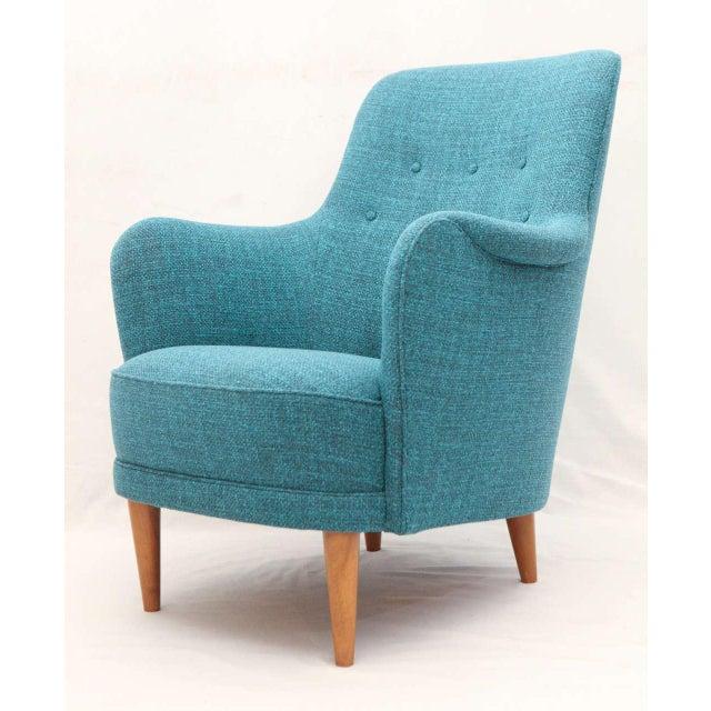 "1960s Carl Malmsten ""Samsas"" Lounge Chair For Sale - Image 5 of 9"