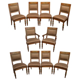 Henredon Grand Provenance French Louis XVI Style Set of 10 Dining Chairs For Sale