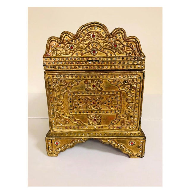 1950s Giltwood Jeweled Box For Sale - Image 11 of 12
