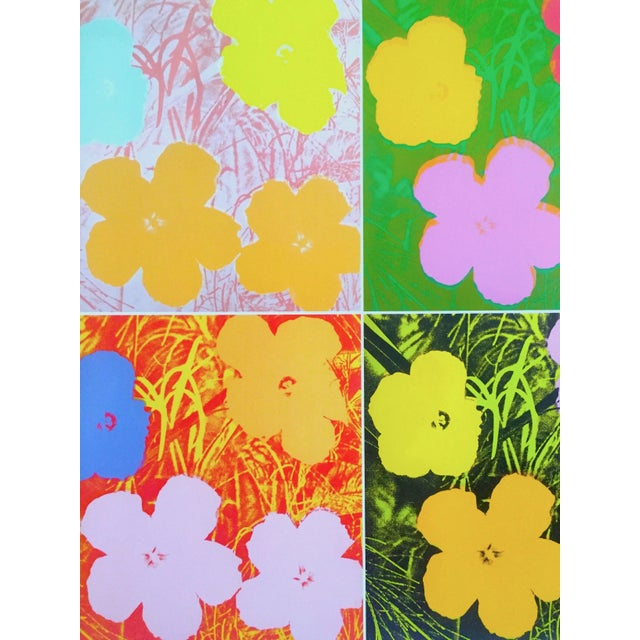 """2010s Andy Warhol Foundation """" Myths of Pop """" Museo Thyssen Lithograph Print Pop Art Exhibition Poster """" Flowers """" 1970 For Sale - Image 5 of 13"""