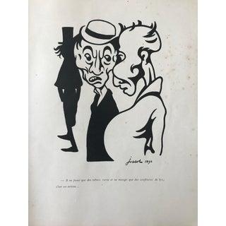 1896 Original French Art Nouveau Sheet, Mince De Trognes!!! Il Ne Fume ... For Sale