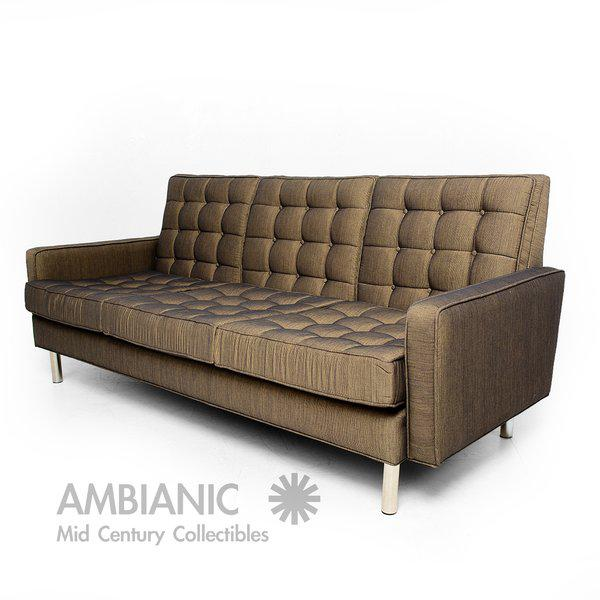 Gray Mid-Century Modern Sofa After Florence Knoll For Sale - Image 8 of 10