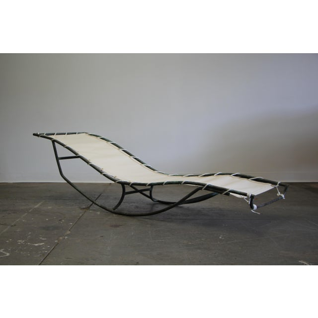 Early Walter Lamb Bronze Rocking Chaise For Sale - Image 13 of 13