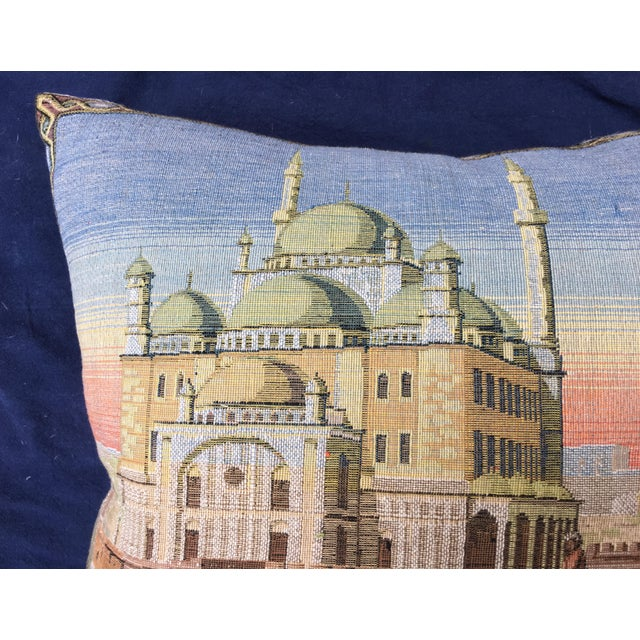 Egyptian Revival Egyptian Tapestry Pillow For Sale - Image 3 of 7