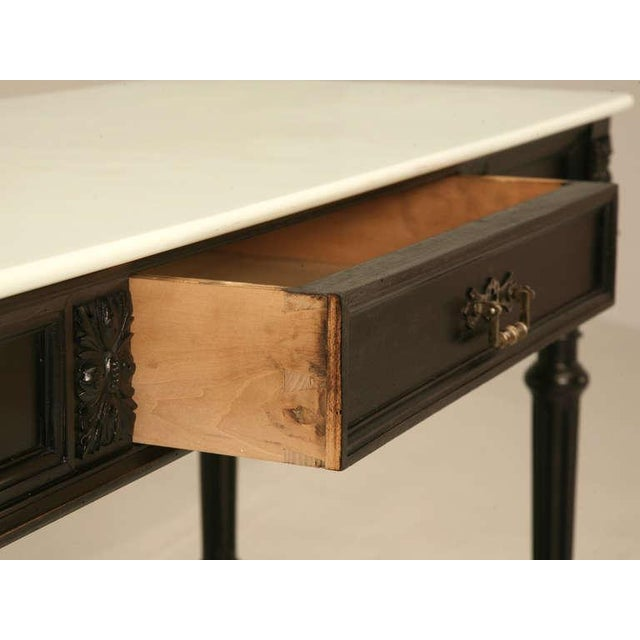 Mid 19th Century Ebonized Antique French Louis XVI Sofa Table For Sale - Image 5 of 10