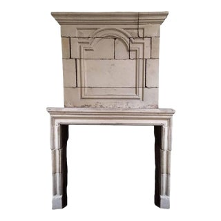 Louis XIV Limestone Mantel with Trumeau, circa 1810 For Sale