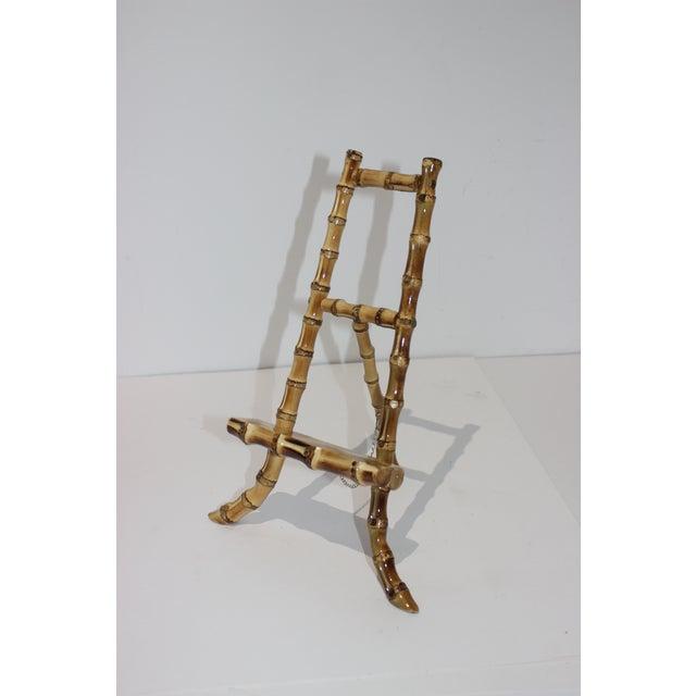 Asian Vintage Handcrafted Tabletop Display Easel Lacquered Bamboo For Sale - Image 3 of 12