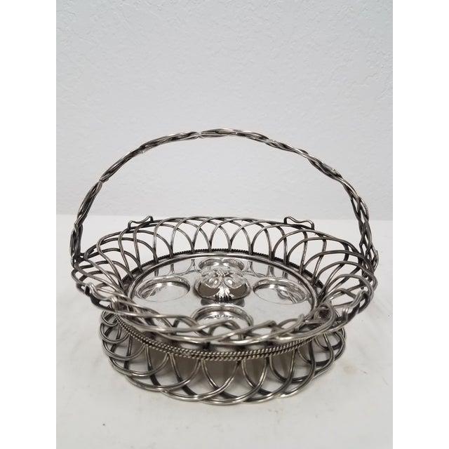 Antique English Silver Plate Elkington Four Egg Server Cruet - 1853 For Sale - Image 4 of 11