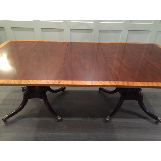 Baker Double Pedestal Mahogany Dining Table - Image 3 of 7