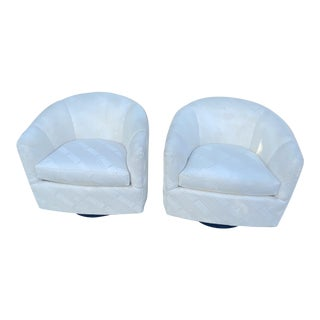 Costume Made Swivel Chairs by Classic Gallery a Pair. For Sale