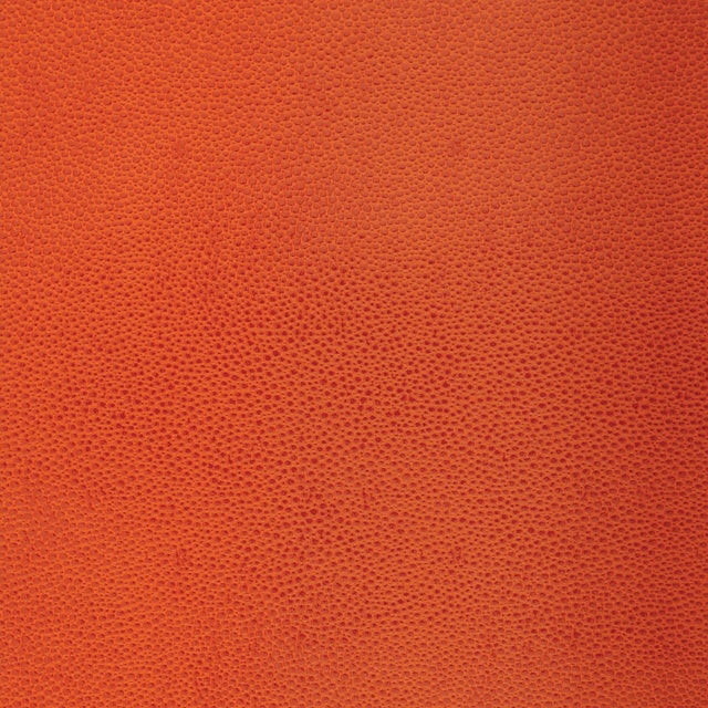 Contemporary Schumacher Shagreen Wallpaper in Chinese Orange For Sale - Image 3 of 3