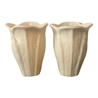 Vintage Haeger Pottery Vases - a Pair For Sale