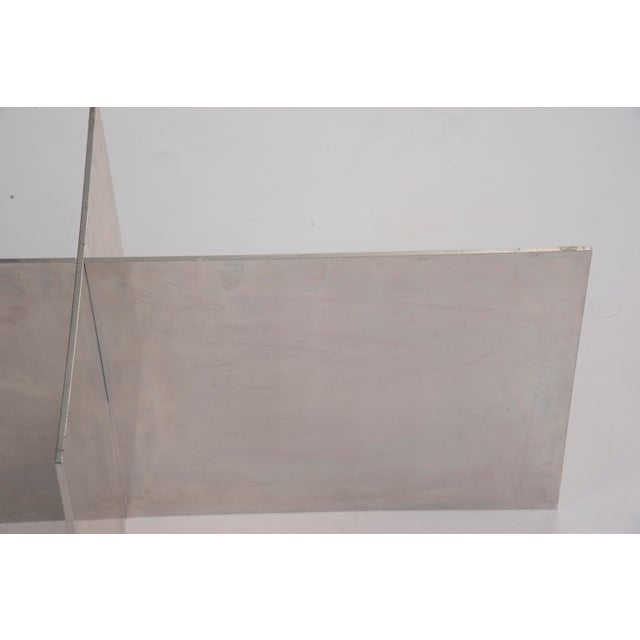 Silver Paul Mayen Habitat Aluminum Coffee Table For Sale - Image 8 of 12