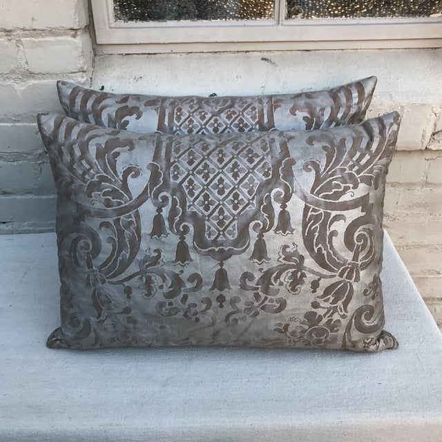 Fortuny Pillows- A Pair - Image 2 of 6