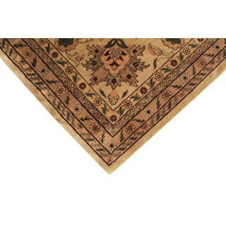 Indo-Kashan Large Brown Neutral Oversize Wool Rug - 15'x25' Preview