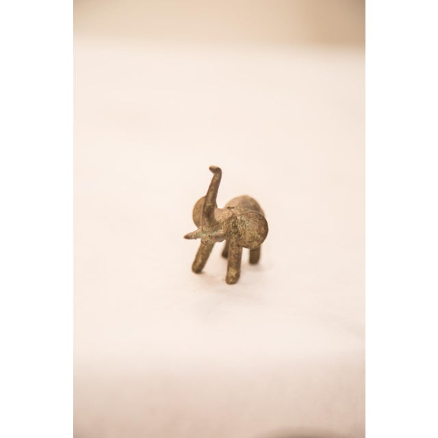 African Vintage Oxidized Elephant Bronze Gold Weight For Sale - Image 3 of 6