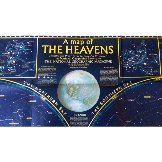 """1970 National Geographic Map of """"The Heavens"""" - Image 2 of 10"""