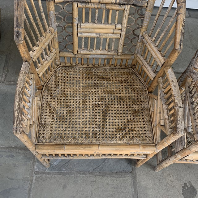 Pair of Vintage Bamboo Brighton Chairs For Sale - Image 4 of 11