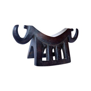 Wooden African Headrest For Sale