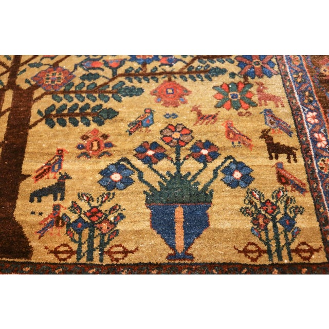 Antique Tabriz Persian Tree of Life Rug - 5′ × 6′10″ For Sale In New York - Image 6 of 10