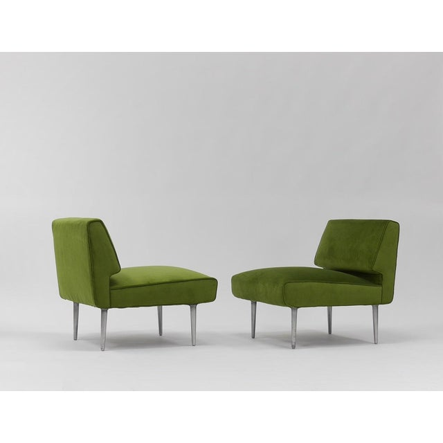 Pair of Lounge Chairs by Edward Wormley for Dunbar For Sale - Image 11 of 11