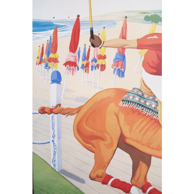 Date: 1993 Size: 16.5 x 24.75 inches Artist: Simone Mallet-Guy This poster advertises the Deauville Polo Club in France,...