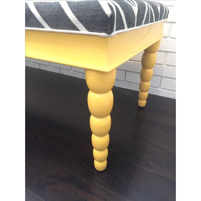 Contemporary Century Furniture Lacquered Bench For Sale - Image 3 of 7