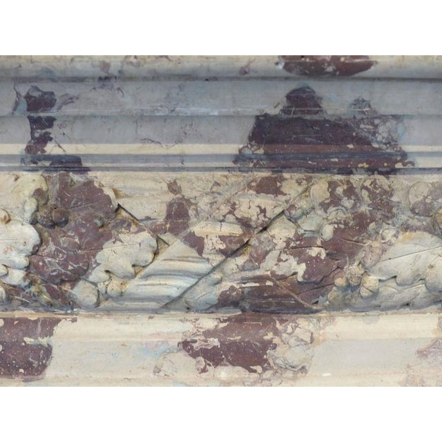 Turn of the Century Italian Terracotta Faux-Marble Fireplace For Sale In Miami - Image 6 of 11
