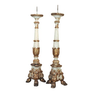 Pair of Large Scale Italian Pricket Sticks For Sale