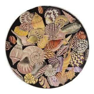 Vintage Chinese Peranakan Porcelain Platter/Plate - Scattered Seashells Pattern 1980 For Sale
