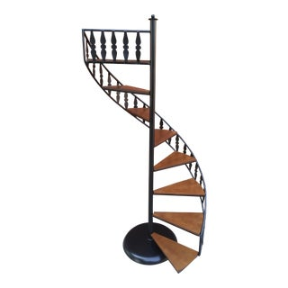 Mid Century Arthur Umanoff for Shaver Howard Spiral Steps Display Stand For Sale