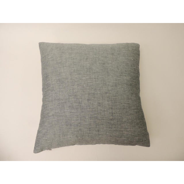 """Barkcloth """"Delray"""" Multi-Color Stripes Decorative Pillow For Sale - Image 4 of 6"""